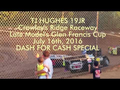 TJ in Dash for Cash race Crowley's Ridge Raceway Glen Francis Cup 7/16/16