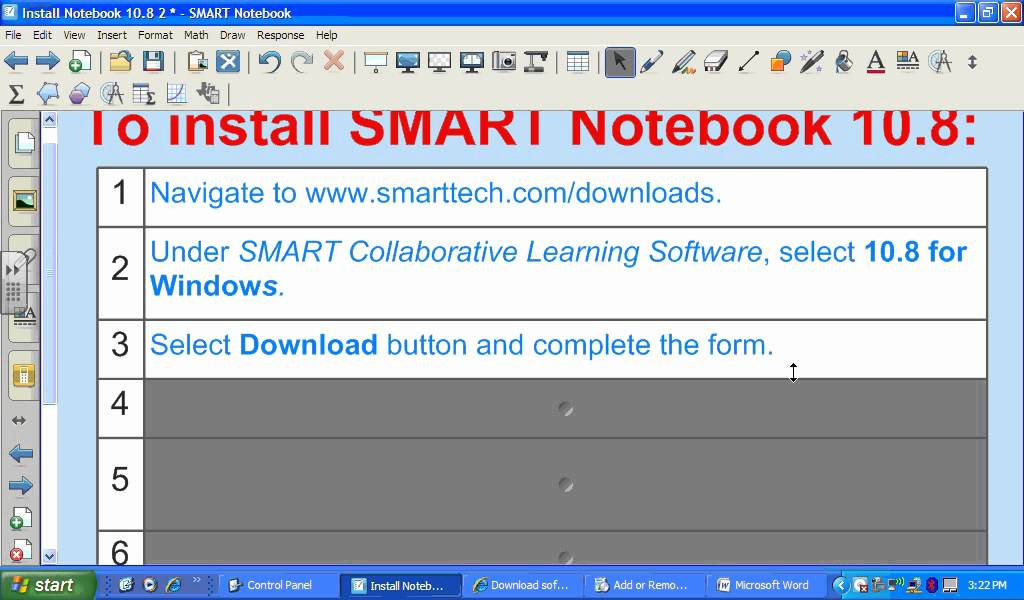 Download Install SMART Notebook 10 8