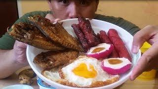 Filipino breakfast sarap ng umaga (pinoy mukbang)