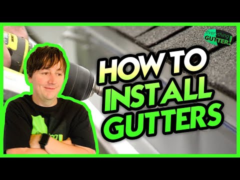 How to Install Aluminum Gutters - Quick Version!
