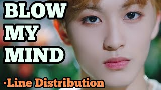 NCT 127 - BLOW MY MIND (Line Distribution)
