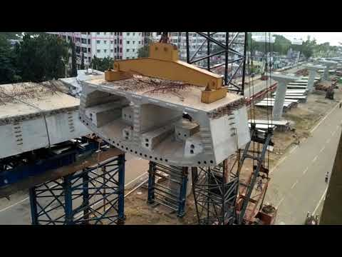Latest Update: Lifting Block: Kanaka Durga Flyover Vijayawada Center Top View - 18 Nov 2017