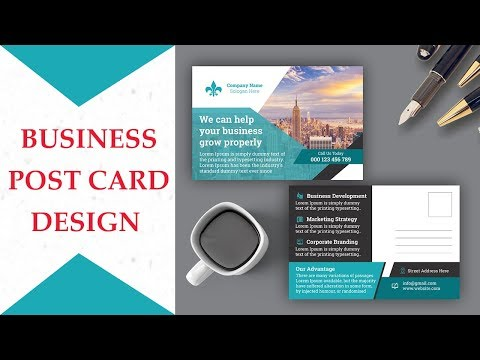 How To Create Postcard Design In Adobe Photoshop CS6 Business Post Card.