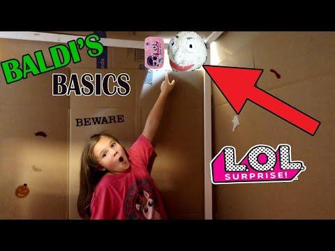 Baldi's Basics In Real Life Slumber Party LOL Surprise Scavenger Hunt! Game Master Hacked Us Again!