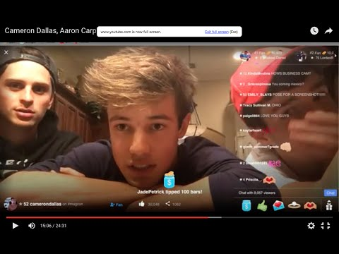 Cameron Dallas, Aaron Carpenter and Colby James on YouNow