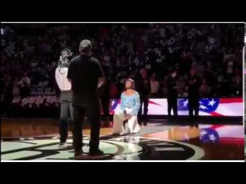 Singer Justine Skye Kneels During National Anthem Performance At Brooklyn Nets Game