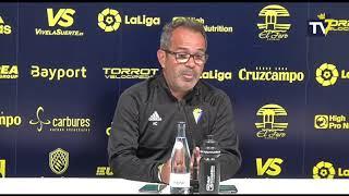 Rueda de prensa de Álvaro Cervera en previa Espanyol-Cádiz de Copa del Rey (03-12-18)