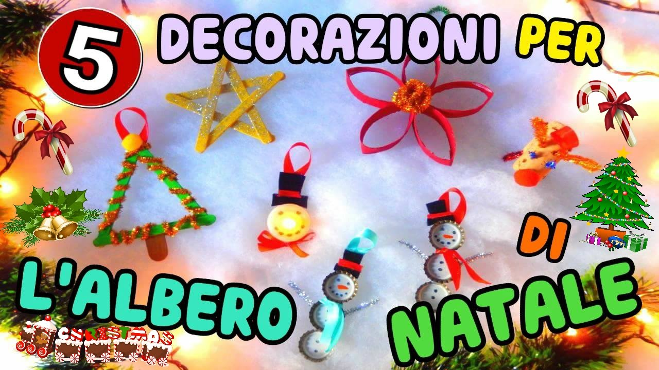Decorazioni Natalizie Youtube.5 Decorazioni Per L Albero Di Natale Fatte In Casa Iolanda Sweets