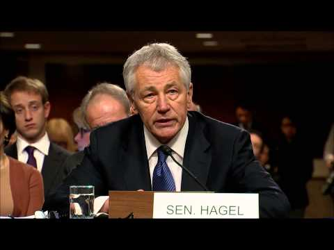 Chuck Hagel Defends Record at Confirmation Hearing