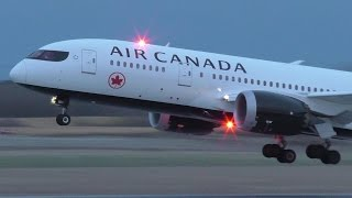 Air Canada New Livery 787-8 [C-GHPQ] Dusk Takeoff from Calgary Airport ᴴᴰ