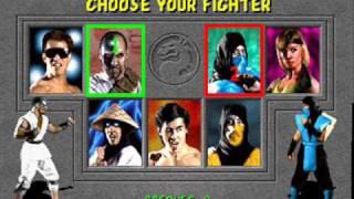 Mortal Kombat snes Character select theme