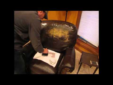 How To Fix Torn Faux Leather Sofa Manhattan Rattan Set A Peeling Couch   Doovi