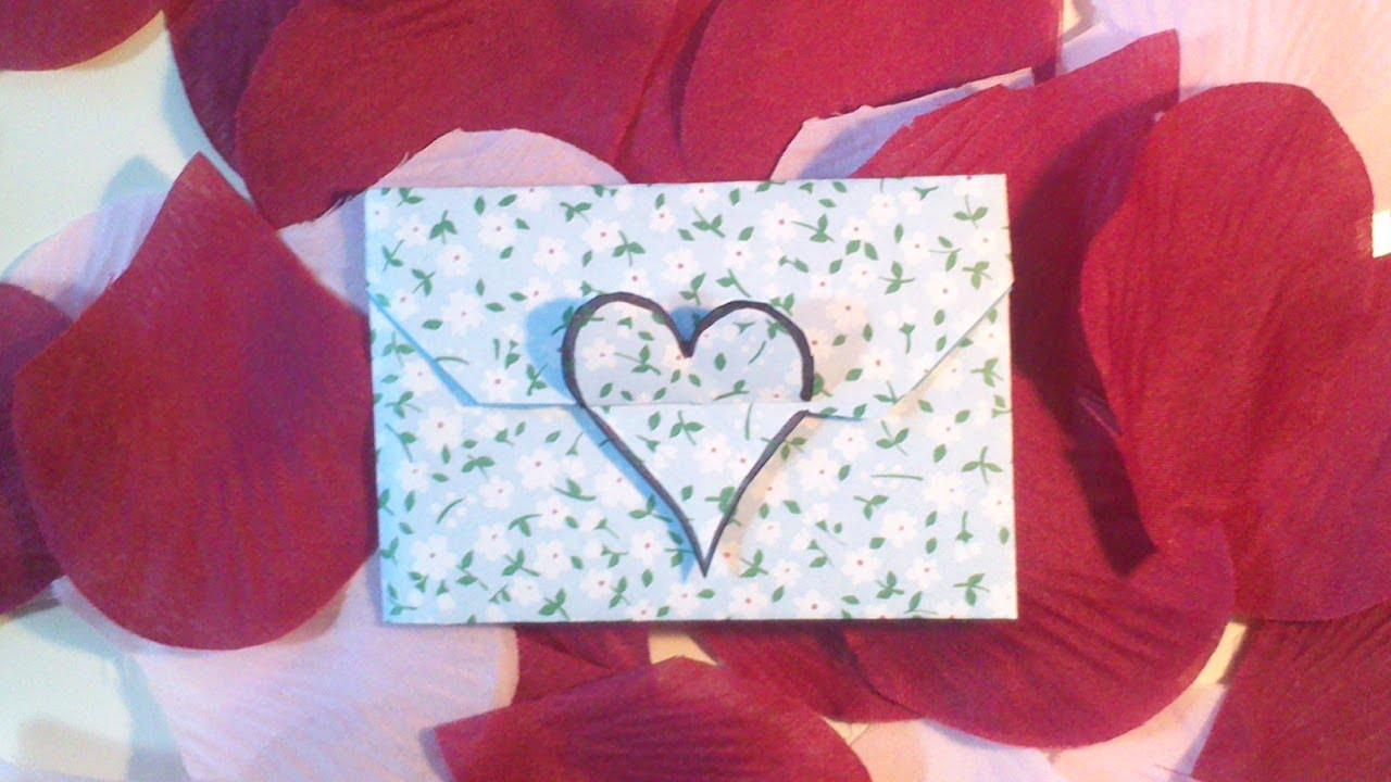 hd tuto faire une enveloppe coeur en origami make an. Black Bedroom Furniture Sets. Home Design Ideas