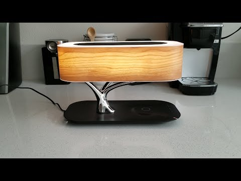 Masdio by Ampulla Tree Table Lamp with Bluetooth Speaker and Wireless Charger!