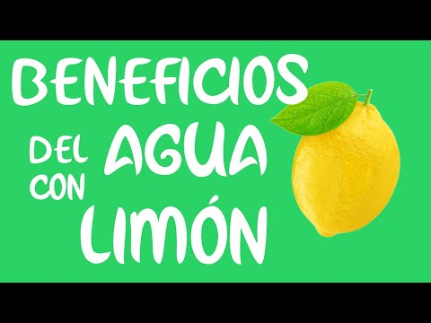 Rodajas de limon agua beneficios con