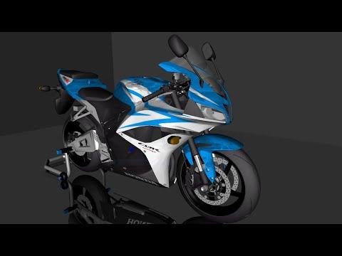 Honda Cbr600rr 2007 Prata E Azul Pc Fraco Android Gta San