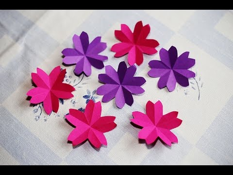 Origami Sakura Flower - How to fold a paper sakura flower - วิธีพับดอกซากุระ