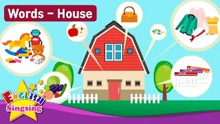 "Kids vocabulary Theme ""House"" - Fruits&Vegetables, Clothes - English Words Theme collection"