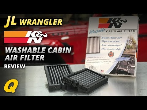 K&N Cabin Air Filter Review For Jeep Wrangler JL And Jeep Gladiator JT