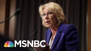 betsy devos future uncertain as senate vote looms   msnbc
