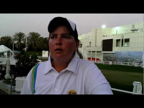 UAE Based Amateur Lindsay Brown after her second Round at the Omega Dubai Ladies Maters