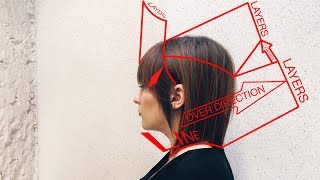 how to: long angled bob haircut tutorial