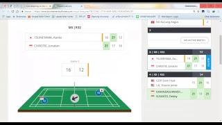 Live Score | Jonathan Cristie [INA] vs Kanta Tsuneyama | Victor China Open 2018