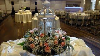 Композиция на стол гостей с фонарём