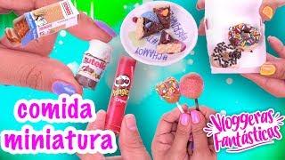 COMIDA en MINIATURA Nutella, Cupcakes, Donas y más! - Conny - Vloggeras Fantasticas
