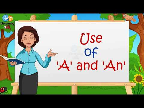 Articles - Use of a and an for kids   Elearning Studio