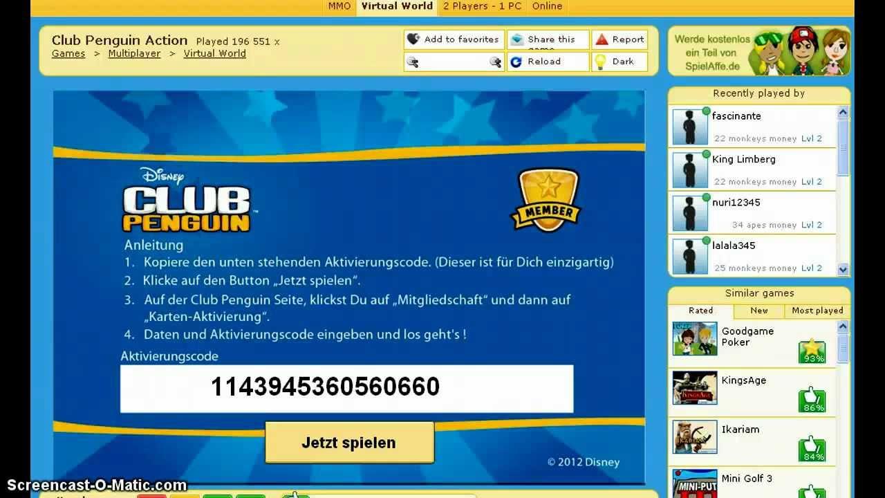 club penguin codes 2012
