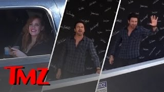TMZ Hollywood Tour Spots Gerard Butler And Jessica Chastain!