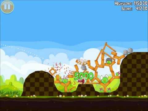 Official Angry Birds Seasons Walkthrough Easter Eggs 1-4