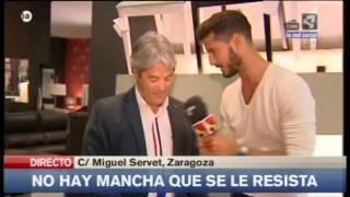Aqua Clean, tela antimanchas en Muebles Nebra Zaragoza. Aragón TV