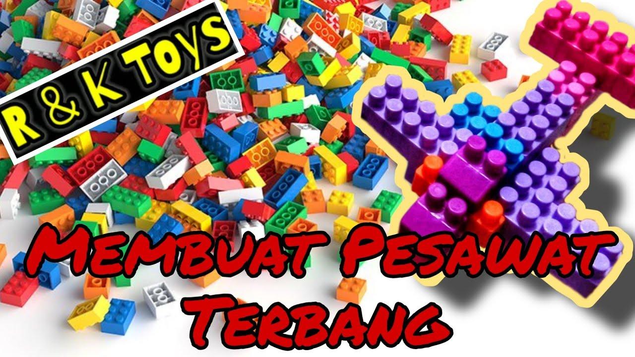 Cara membuat pesawat dari lego   kreatif lego block - YouTube
