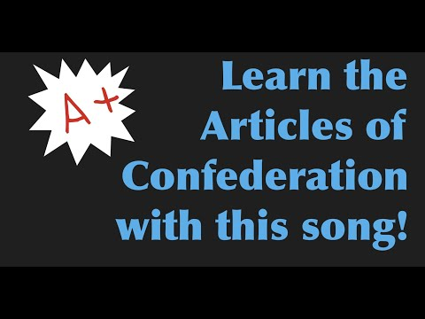 Articles of Confederation (Taken from Boom Boom Pow by Black Eyed Peas).