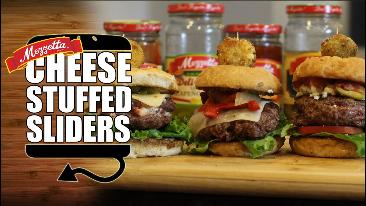 Cheese Stuffed Burger Sliders done Three Ways | HellthyJunkFood ...