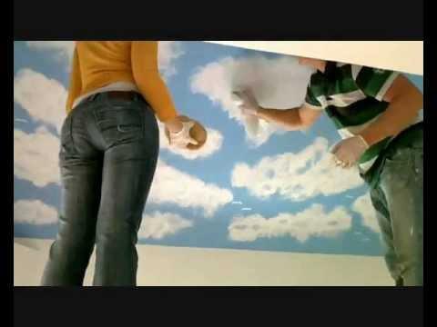 Zeitraffer !! Zimmerdecke dekorieren - YouTube