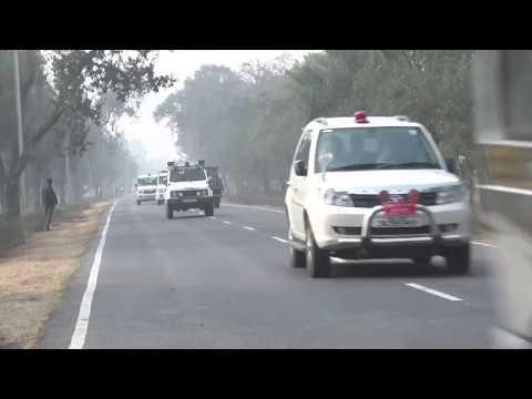 Bihar CM Nitish Kumar Dangerous Kafila in Bhagalpur, Bihar