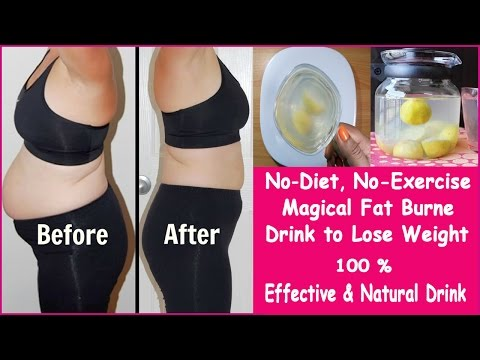 Magical Fat Burner Drink to Lose Weight/No-Diet, No-Exercise /100% Effective & Natural Drink