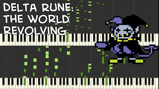 Delta Rune THE WORLD REVOLVING Jevil 39 s Theme Piano Duet Synthesia.mp3