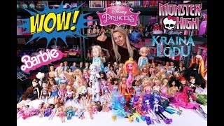 My HUUUUGE and INSANE BARBIE DOLLS collection 😜 BARBIE MONSTER HIGH disney princess