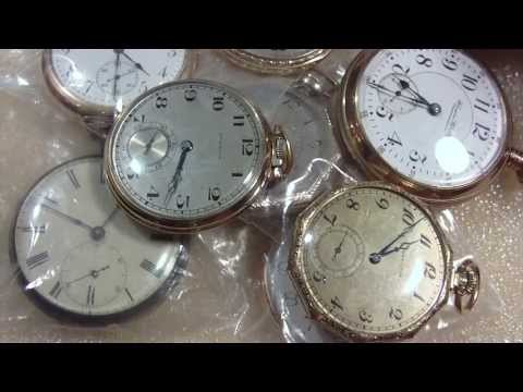 How to open up an old pocket watch case, screw on and snap o