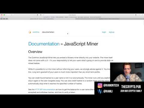 Websites mining using your CPU - Building our own - Programmer explains