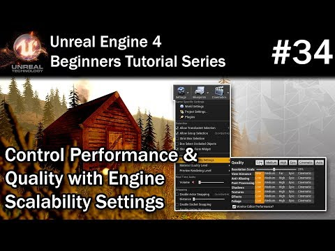 34 Improve Performance in Unreal Engine 4 | UE4 Tutorial