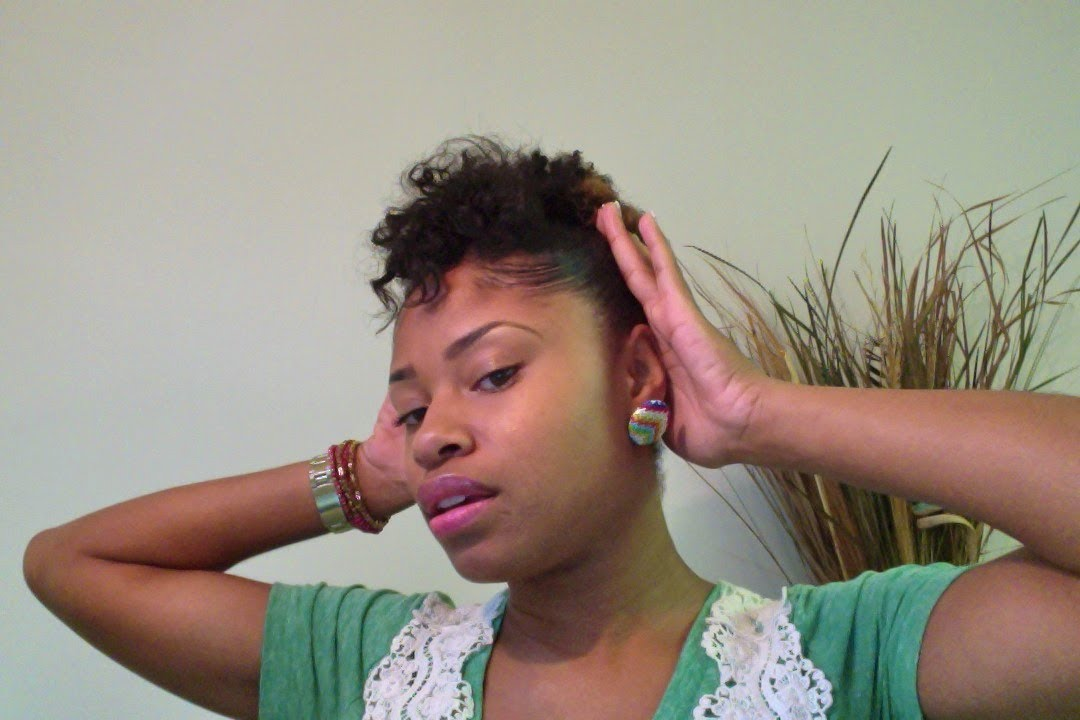 Tutorial Quick Updo For Short Natural Hair Youtube