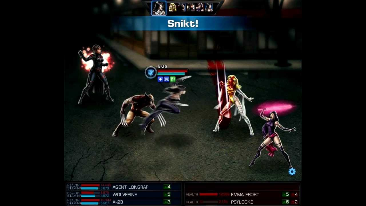 Marvel Avengers Alliance PVP: Wolverine+X-23 vs Emma Frost ... X 23 Marvel Avengers Alliance