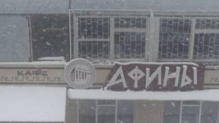 город Южноукраинск  Николаевской области снег в Апреле