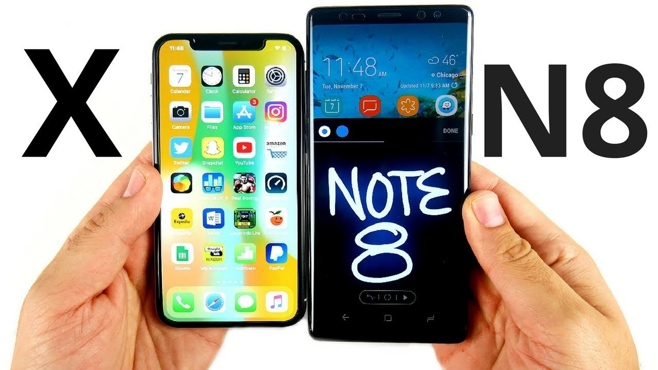 Iphone X Vs Note 8 Opiniones