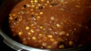 Homemade Chili, Ground Beef, Black, Northern & Red Beans, Tomato Sauce, Corn, Toasted Bread Part2
